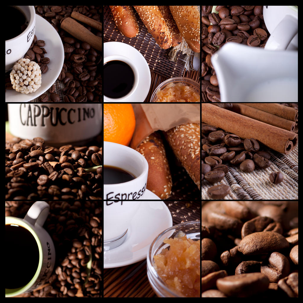 Kitchen Wallpaper Coffee: Cafe Collage By H3xman On DeviantArt