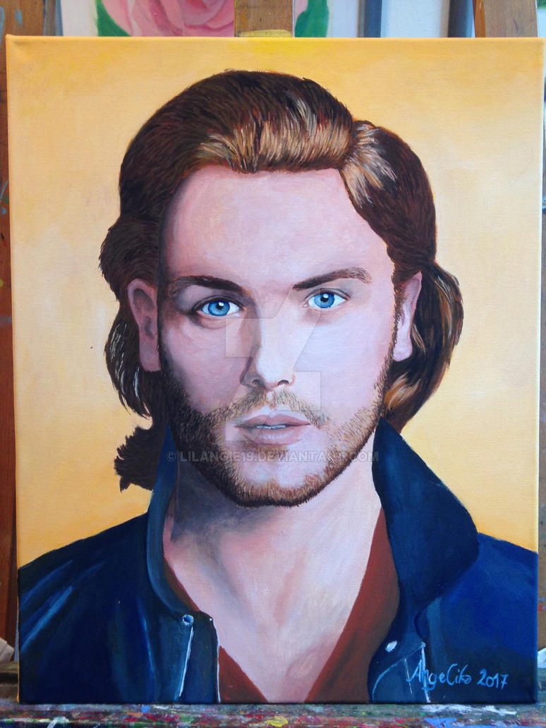 Sam Heughan Portrait by lilangie19