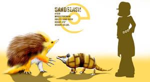 Sandslash and Sandshrew by miragedtheory