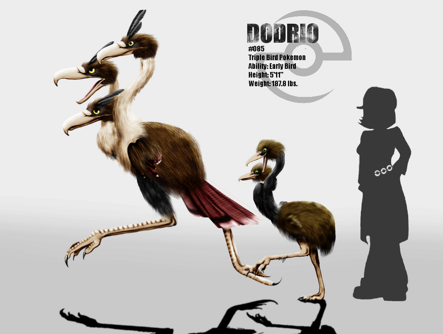 Imagenes , loles - Página 20 Doduo_and_dodrio_by_miragedtheory-d5lg5l5
