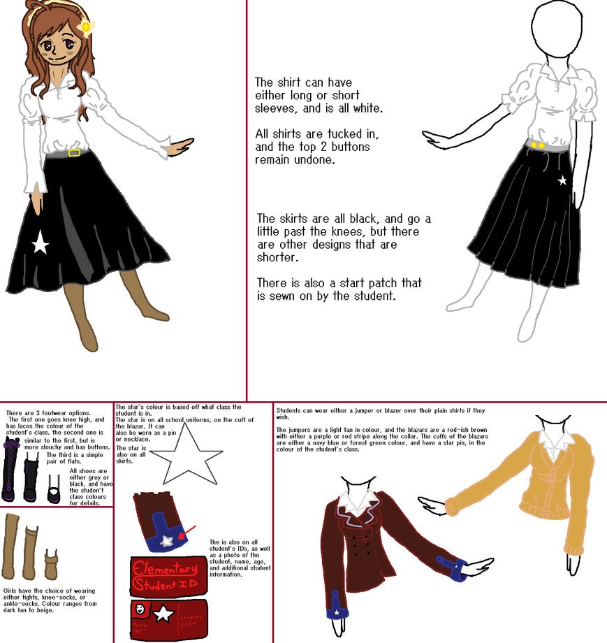 HetaDOUJINSHI - Elementary - Girl's uniform design by APH-RepblicOfIreland