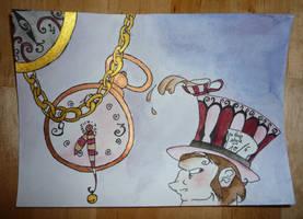 Clock 'n Hatter Card by Hedgefairy