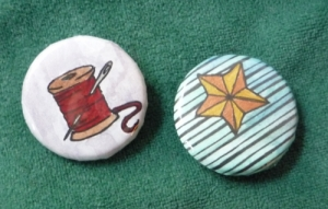 Star. Needle. Thread. Buttons by Hedgefairy