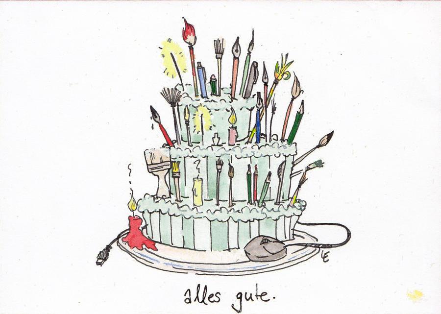 Birthday Card: Artist