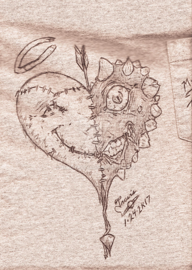 Twisted Heart T-Shirt by zmorphcom