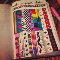 Wreck this Journal: Make a paper chain: BEFORE by heather24242