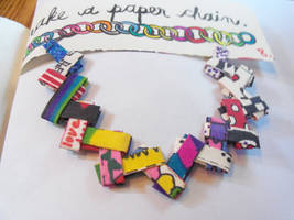 Wreck this Journal: Make a paper chain: AFTER by heather24242