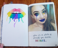 Wreck This Journal: Deface A Photo Of Yourself by heather24242
