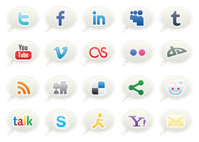 Social Network Icons by vectorvixen