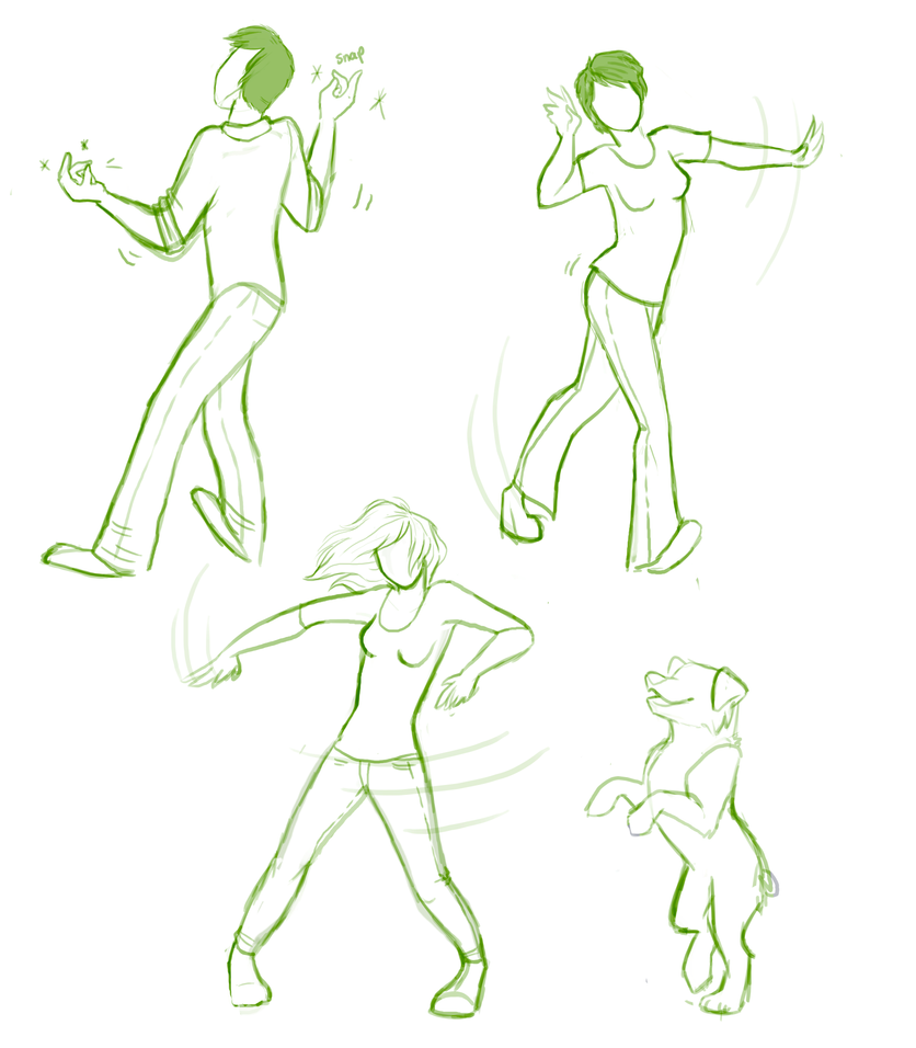 Dancing People Doodles By Elkerae On DeviantArt