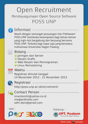 Open Recuitment POSS UNP 2012 Pamflet by erdie1design