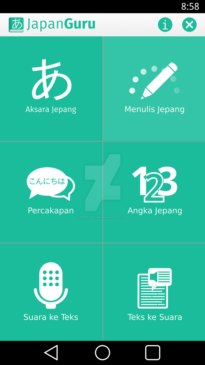 JapanGuru Android Apps Mockup by erdie1design