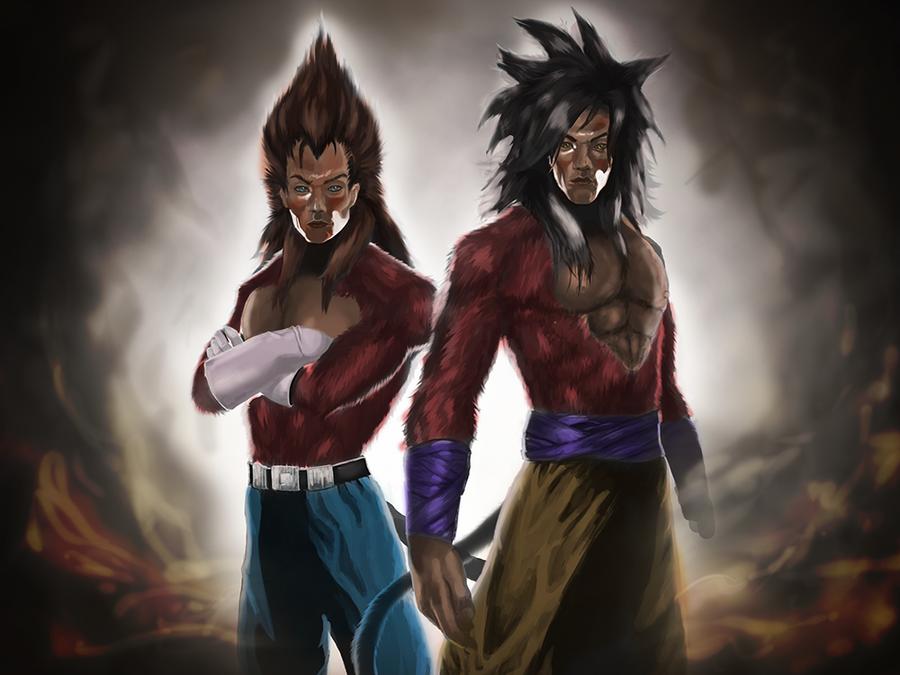 Vegeta And Son Goku SSJ4 By Sternberger