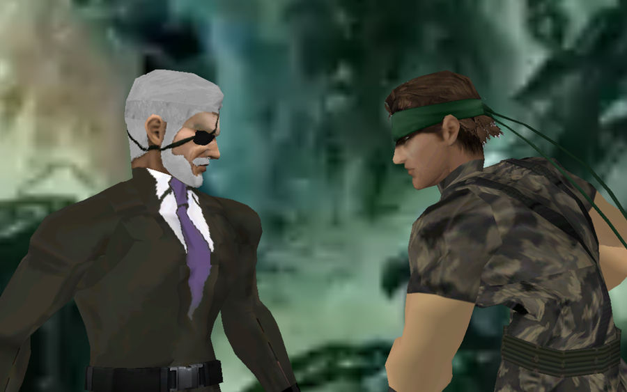 Metal Gear 2 Solid Snake Battle With Big Boss By