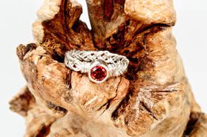 Anniversary braided ring by annadabrowska