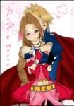 Cloud and Aeris Hug