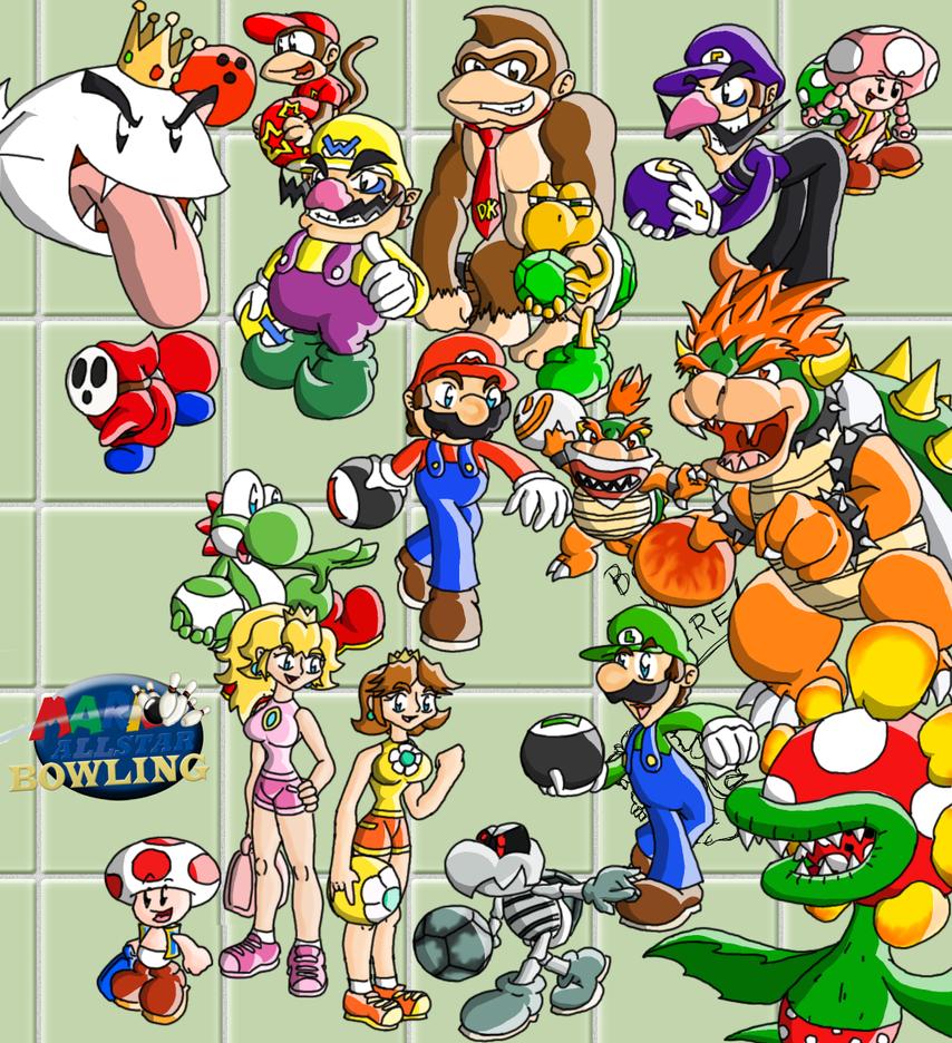 Mario Allstar Bowling by ChetRippo