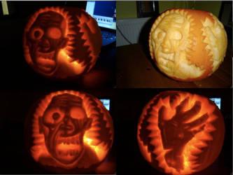 Zombie Pumkin by Gee-tar