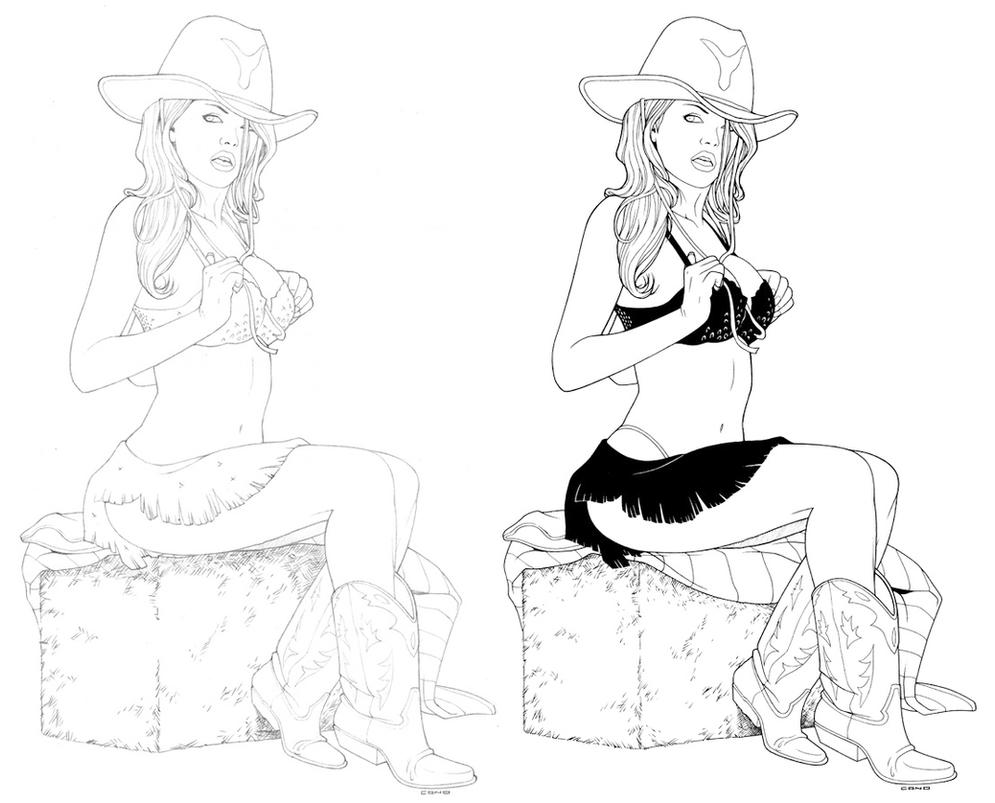 Only Famous nude cowgirl sketches
