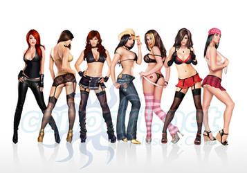 Girls girls girls by jocachi