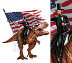 Lincoln and T-Rex