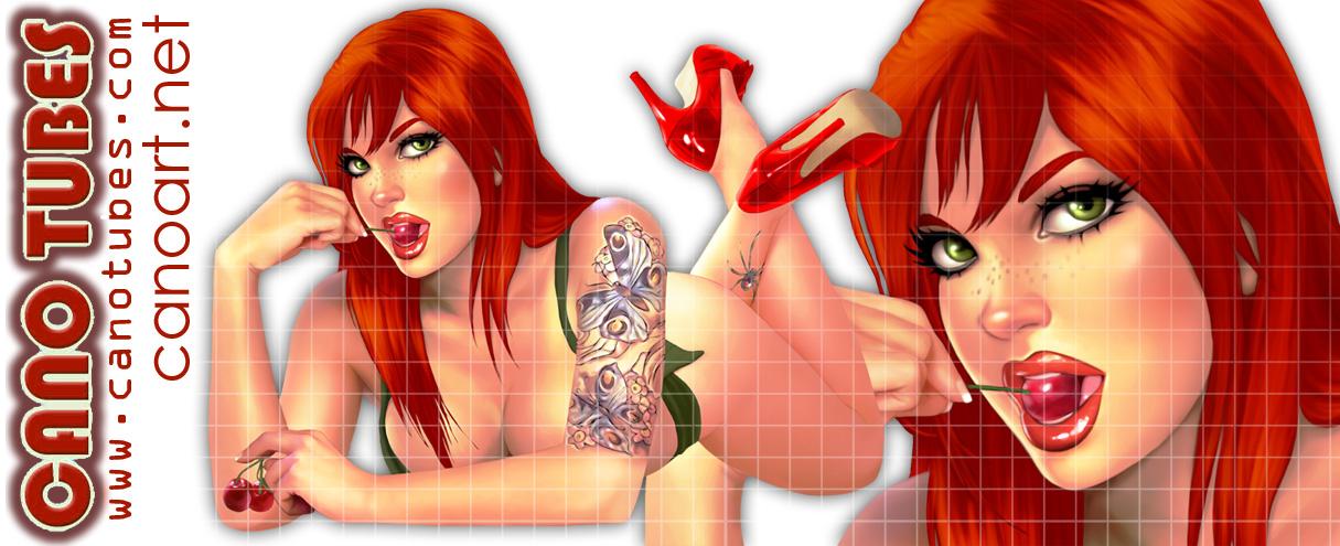 Redhead toon by jocachi