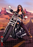Biker girl commission by jocachi