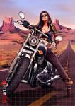 Biker girl commission