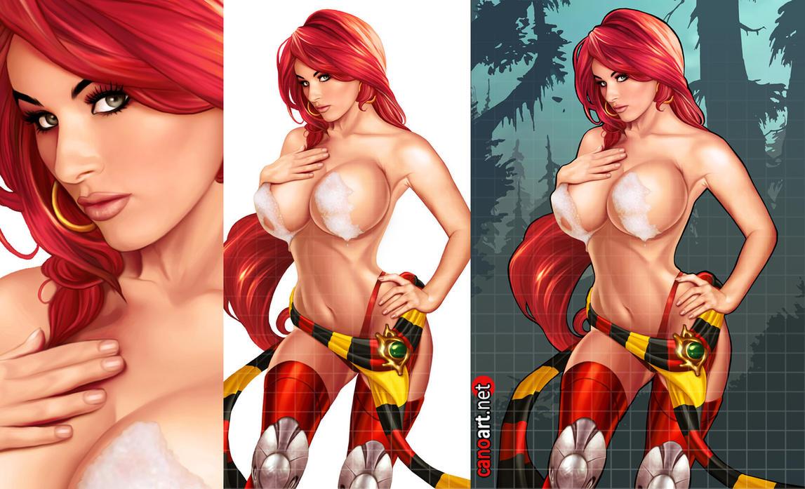 Red Monika commission by jocachi