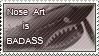 Badass Nose Art - Stamp by Lar-Ki