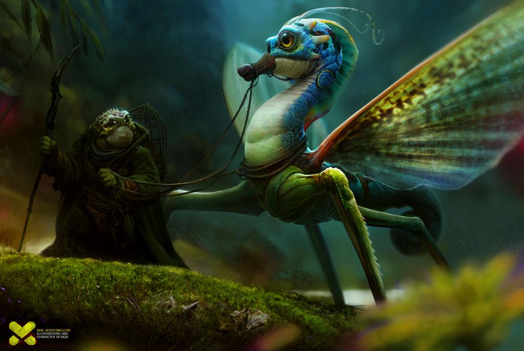 Seahorse dragon by maxkostenko