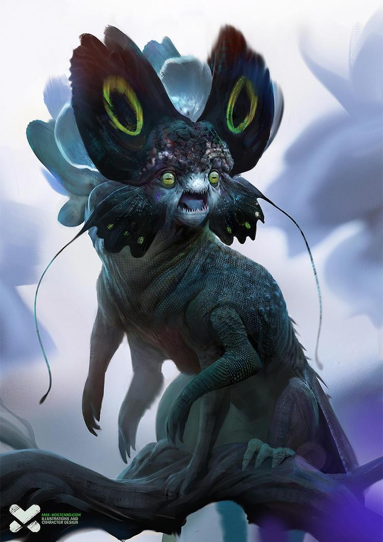 Flower-faced Monster by maxkostenko