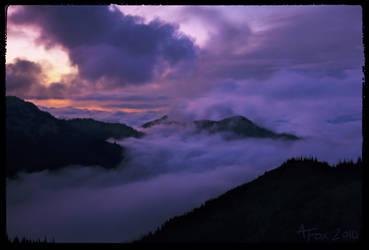 Hurricane Ridge - Sunset by thefarthestshore