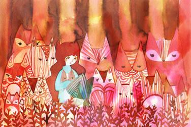 Fox Forest by QueenofCuriosity