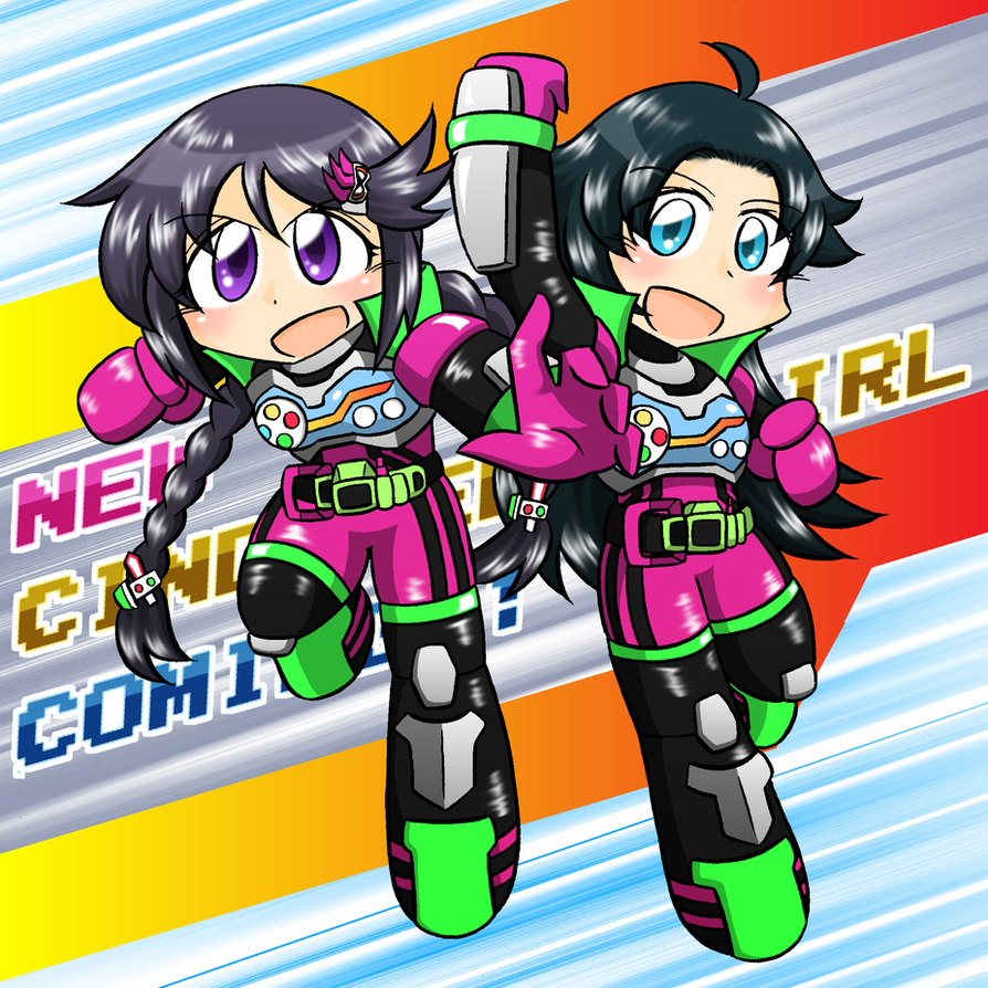 Sana and Hikaru in KAMEN RIDER EX-AID costume by sulfer-kokegitsune