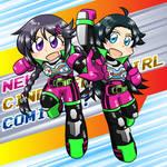 Sana and Hikaru in KAMEN RIDER EX-AID costume