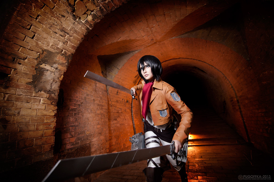 Mikasa Ackerman READY TO FIGHT! by Misaki-Sai