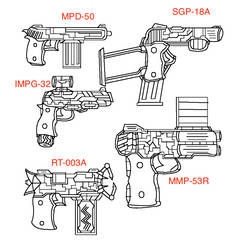 3rd Agency Most used side arms