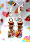 Small sweetie jar earrings