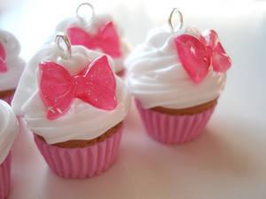 Cupcake Bow Charms