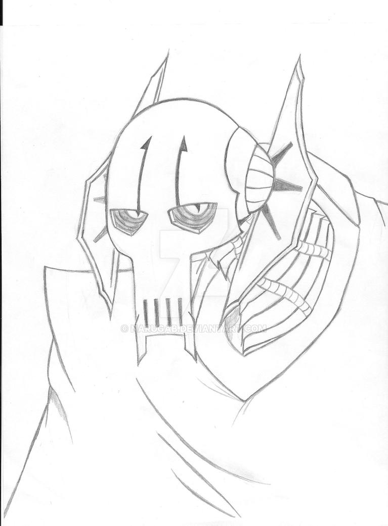 General grievous by narugab on deviantart for General grievous coloring page