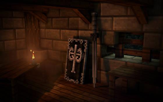 Dark Souls - Tarkus's sword and shield
