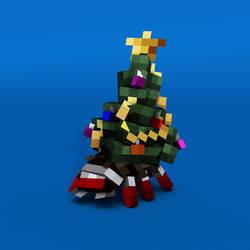 Christmas tree Bagworm moth larvae