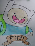 Finn The Human Watercolor