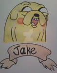 Jake The Dog Watercolor