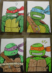 Nick TMNT Sketchcards Colored