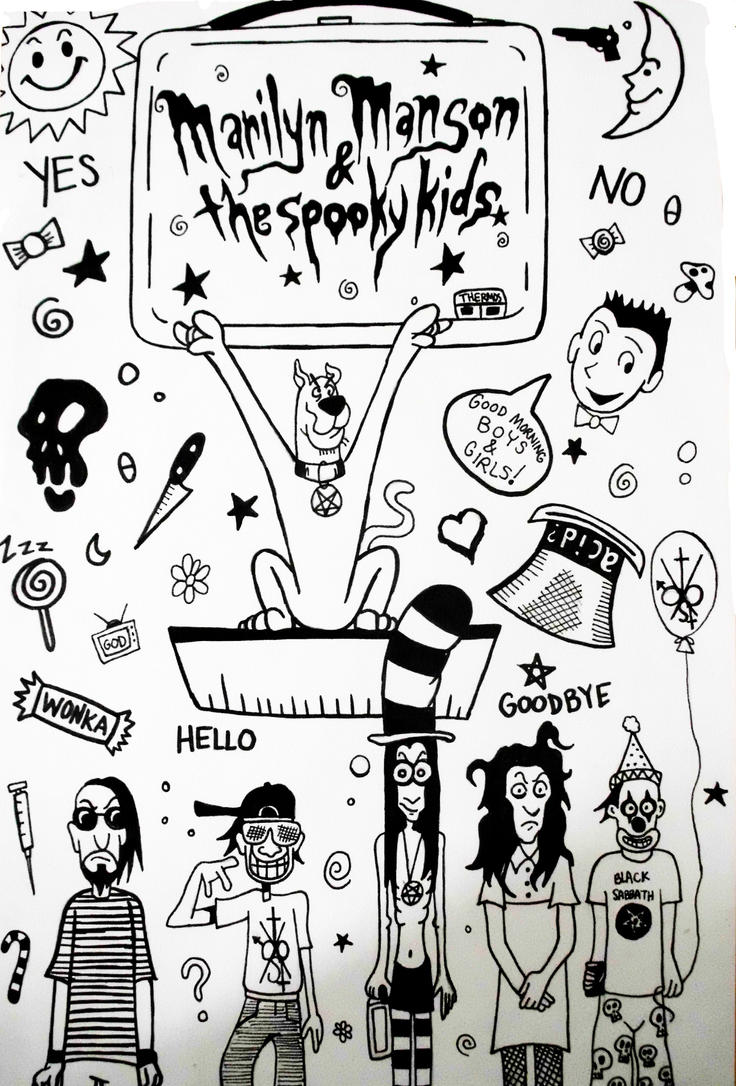 Marilyn Manson and the Spooky Kids Poster by TMNT1984 on ...