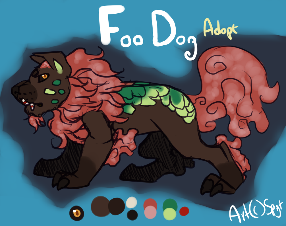 Foo Dog Adopt CLOSED by SpytDragonFyre