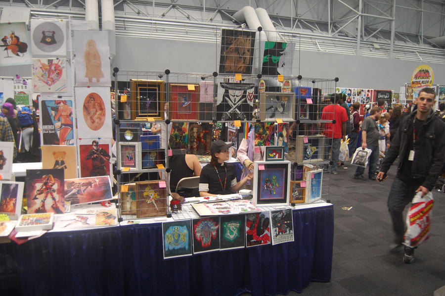 Our New York Comic Con Booth By Animeartist1212