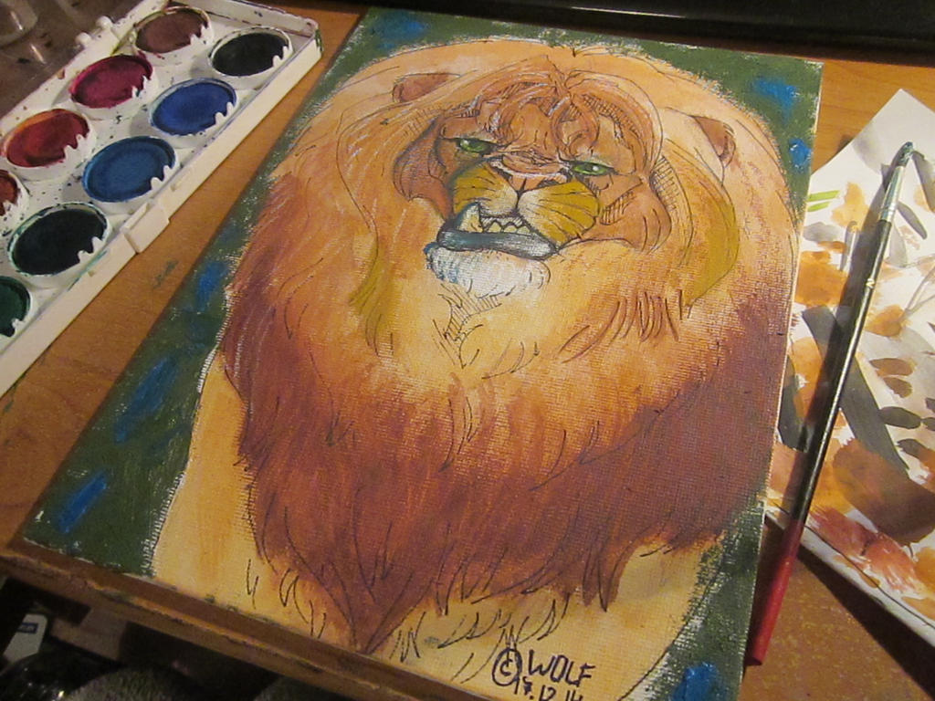Lion Painting by TheWolfMadness